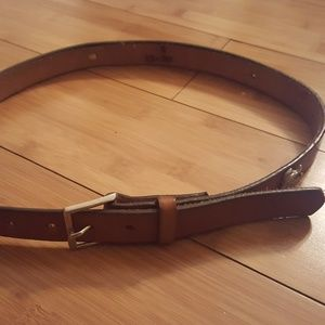brown leather cowboy mickey Disney belt small